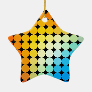 Dotted colorful background ceramic star decoration