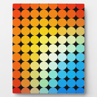Dotted colorful background plaque