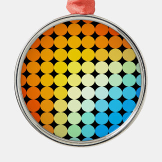 Dotted colorful background Silver-Colored round decoration
