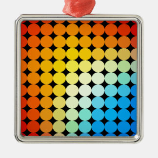 Dotted colorful background Silver-Colored square decoration
