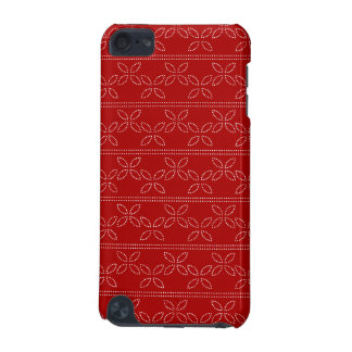Dotted Elipsis in Red  iPod Touch (5th Generation) Case