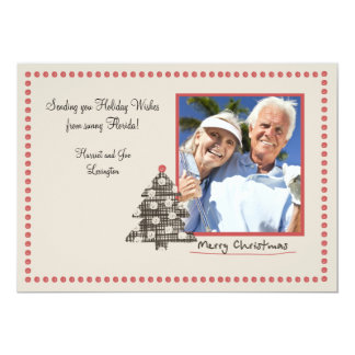 Dotted Frame Holiday Photo Card 13 Cm X 18 Cm Invitation Card