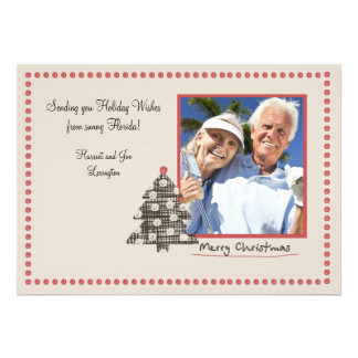 Dotted Frame Holiday Photo Card