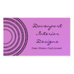 Dotted Half Moons Business Card, Lavender Pack Of Standard Business Cards