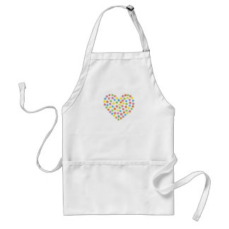 Dotted Heart Aprons