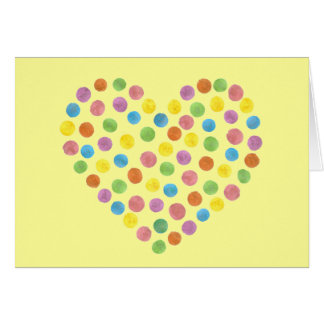 dotted heart greeting card