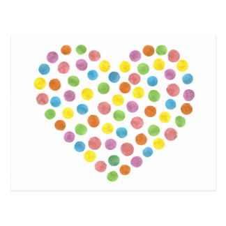 Dotted Heart Postcard