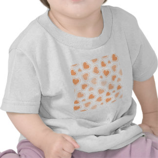 dotted hearts peach png shirt