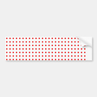 dotted polka dots red Christmas star scores Bumper Sticker