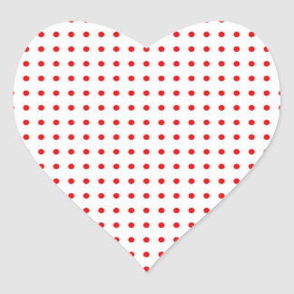 dotted polka dots red Christmas star scores Heart Stickers