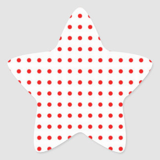 dotted polka dots red Christmas star scores Star Sticker