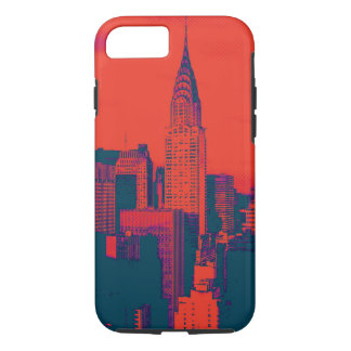 Dotted Red Retro Style Pop Art New York City iPhone 7 Case