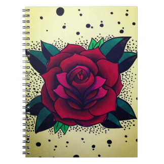 dotted roses note pad notebook