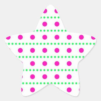 dotted scored dab pünktchen star sticker