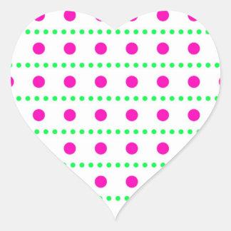 dotted scored dab pünktchen heart stickers