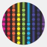 Dotted Spectrum Round Stickers