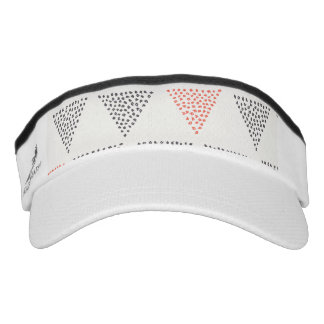 Dotted Triangles Pattern #1 Visor