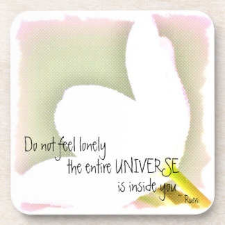 Dotted Tulip Rumi Quote Beverage Coaster