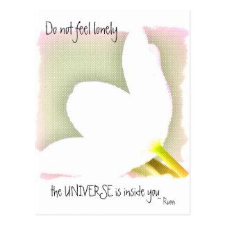 Dotted Tulip Rumi Quote Postcard