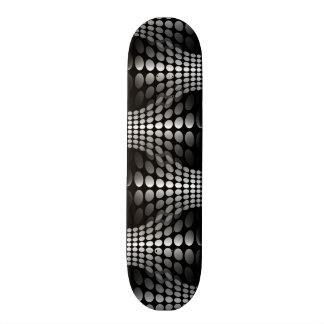 Dotted Waves Wallpaper black white Skate Board