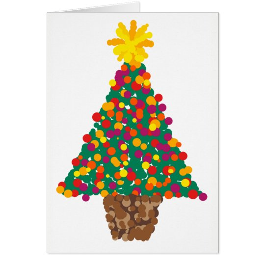 dotty christmas tree card