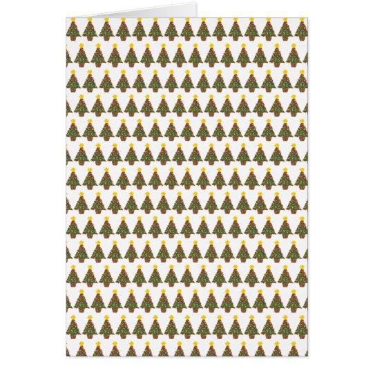 dotty christmas trees greeting card