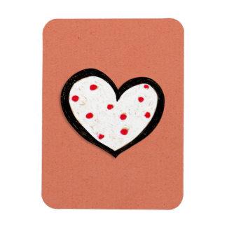 Dotty Hearts kraft red Premium Flexi Magnet