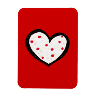 Dotty Hearts red Premium Flexi Magnet