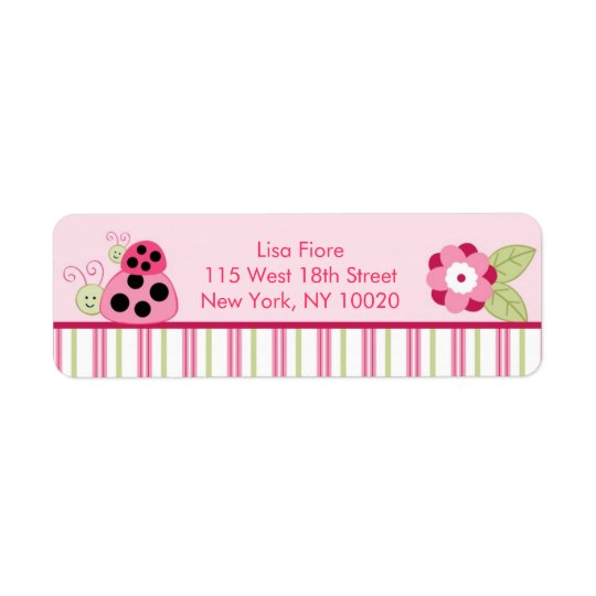 Dotty Ladybug Baby Shower Address Labels