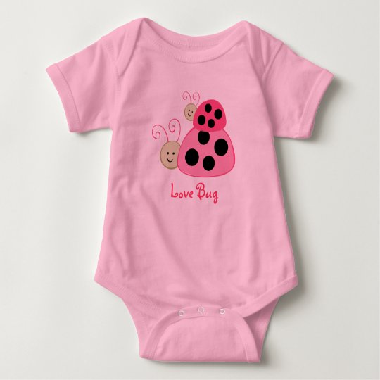 Dotty Ladybug Love Bug Baby T-Shirt Creeper