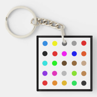 Dotty Modern Art Key Ring