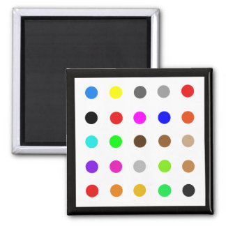 Dotty Modern Art Square Magnet