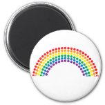 Dotty Rainbow 6 Cm Round Magnet