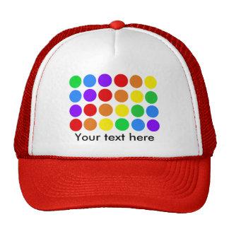 Dotty rainbow hat