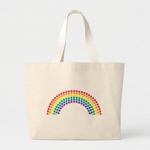 Dotty Rainbow Jumbo Tote Bag