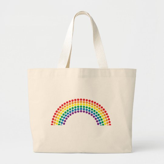 Dotty Rainbow Large Tote Bag