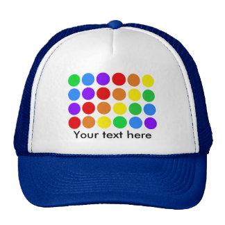 Dotty rainbow trucker hat