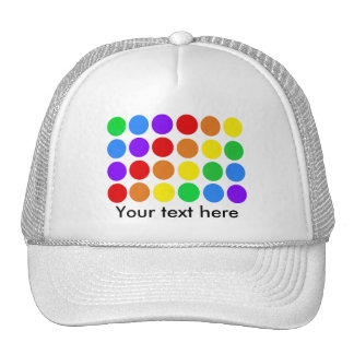 Dotty rainbow trucker hats