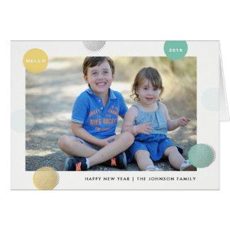 Dotty Spotty - Fun Polka Dot New Year Holiday Card