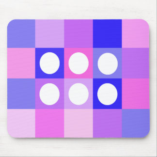 Dotty squares and circles mouse pads