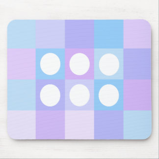 Dotty squares and circles mousemats