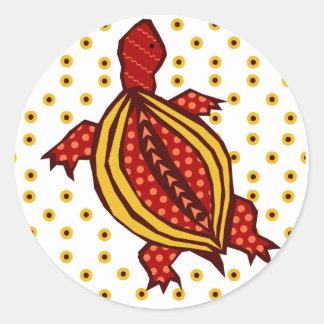 Dotty-Torty Classic Round Sticker