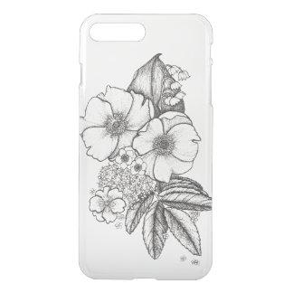 Dotwork Wild Roses Phone Case