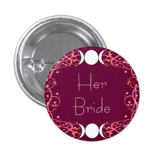 Double 3 in 1 Lesbian Her Bride Pin for Wiccans