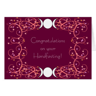 Double 3 in 1 Lesbian Wiccan Wedding Congrats Greeting Card