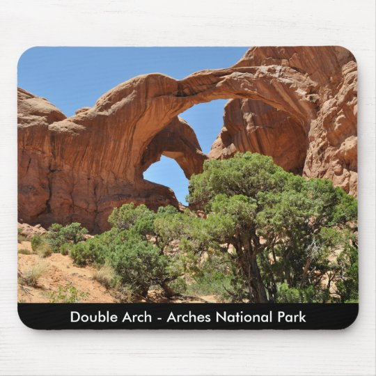 Double Arch - Arches National Park Mouse Pad