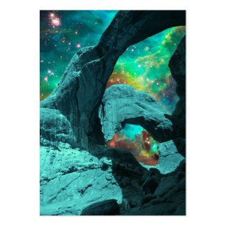 Double Arch in Space Profile Card Large Business Cards (Pack Of 100)