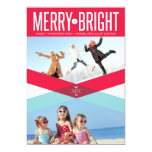 Double Arrows Merry & Bright Holiday Photo Card Custom Announcement