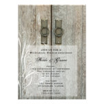 Double Barn Door Country Wedding Rehearsal Dinner Personalized Invite