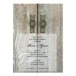 Double Barn Doors Country Post Wedding Brunch Personalized Invitations